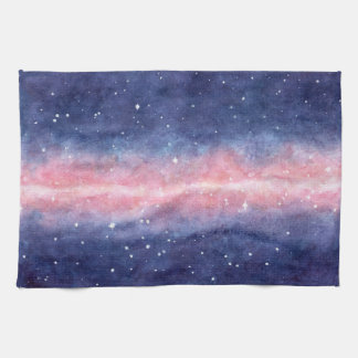 Watercolor Space kitchen towel