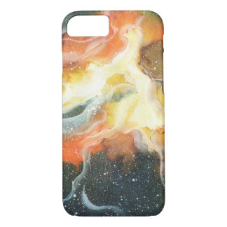 Watercolor Space Nebula Galaxy iPhone 7 Case