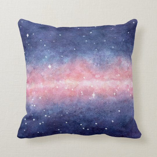 Watercolor Space Throw Pillow Zazzle