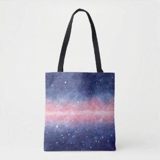 Watercolor Space tote bag