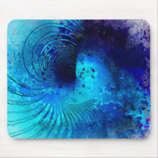 Watercolor Spiral Painting Mouse Mat