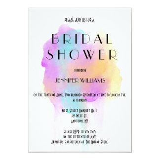 Watercolor splash bridal shower invitations