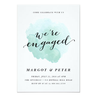 Watercolor spotlight   Engagement Party Invitation