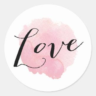 Watercolor Spotlight | Love sticker