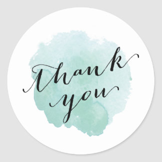 Watercolor Spotlight | Thank you sticker