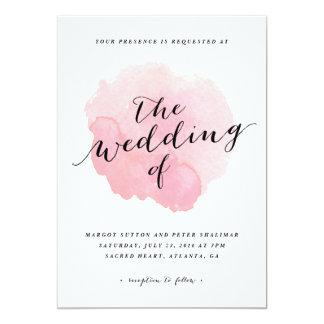 Watercolor spotlight | Wedding Invitation
