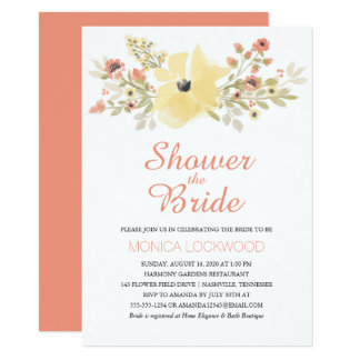 Watercolor Spring Blossoms | Bridal Shower Card