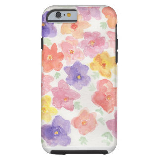 Watercolor Spring Flowers Tough iPhone 6 Case