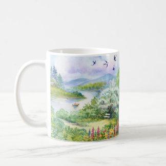 Watercolor Spring Scene Classic Mug