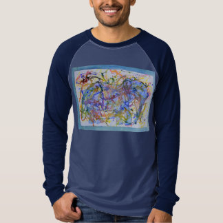 Watercolor Squiggle Elephant T-Shirt