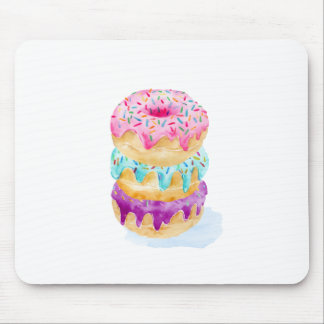Watercolor stack of donuts mouse pad