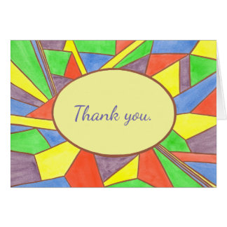 Watercolor Stained Glass Look Thank you Cards