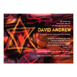WATERCOLOR STAR Bar Bat Mitzvah Invitation