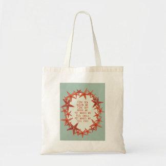Watercolor Starfish Tote Bag