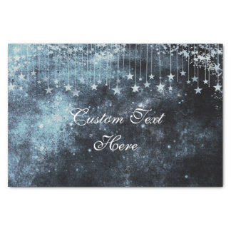Watercolor Starry Night Celestial Custom Wedding Tissue Paper