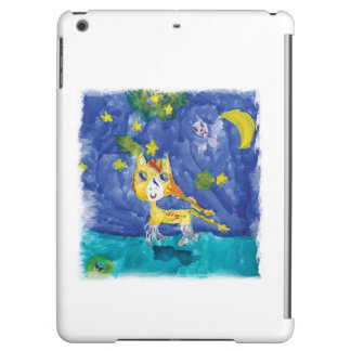 Watercolor Starry Night Pegasus with Bat