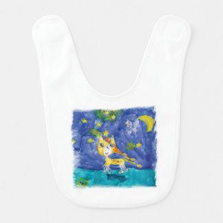 Watercolor Starry Night Pegasus with Bat Bib