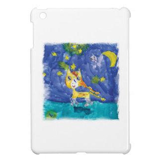 Watercolor Starry Night Pegasus with Bat iPad Mini Cover