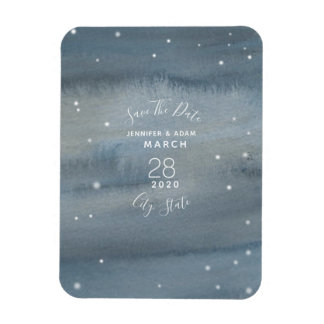 Watercolor Stars Wedding Save The Date Magnet