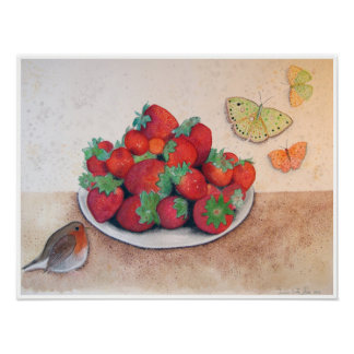 Watercolor still life by Gemma Orte Designs. Poster