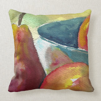 Watercolor Still Life Pears Throw Pillow