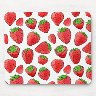 Watercolor Strawberry Mouse Pad