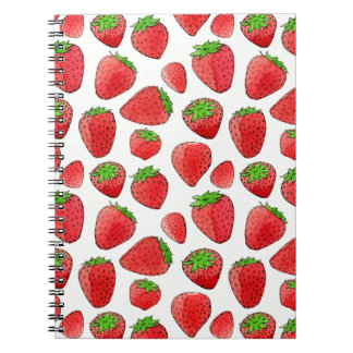Watercolor Strawberry Notebooks