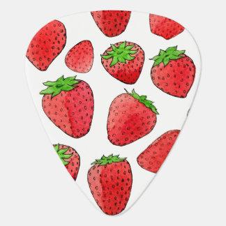 Watercolor Strawberry Plectrum