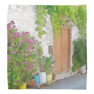 Watercolor street view bandana