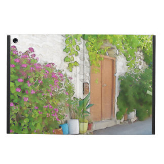 Watercolor street view iPad air cover