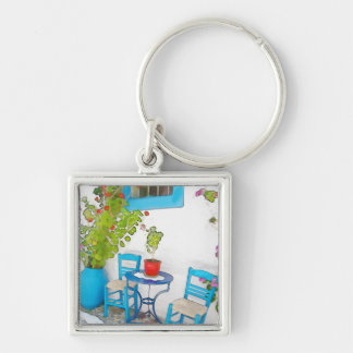 Watercolor street view key ring