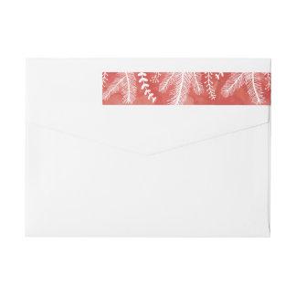 Watercolor Strip Holiday Return Address Label Wraparound Return Address Label