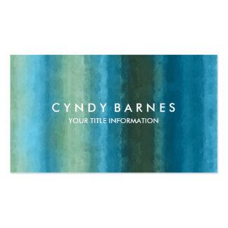 Watercolor Stripe Business Card