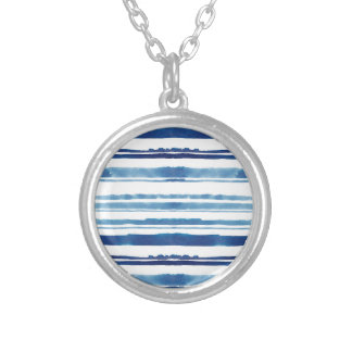 Watercolor Stripe Silver Plated Necklace