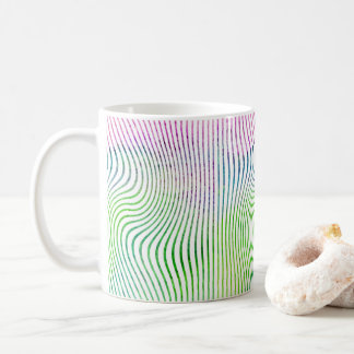 Watercolor stripe swirl coffee mug