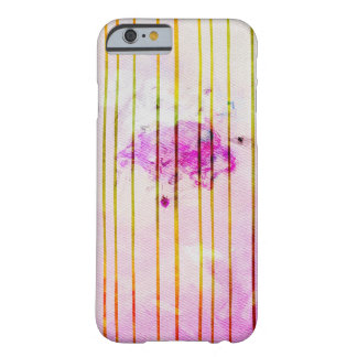 Watercolor Striped Rainy Yellow and Pink Phone cas Barely There iPhone 6 Case