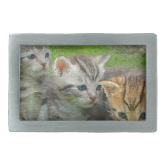Watercolor Style Kettens Cats Belt Buckles
