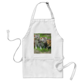 Watercolor Style Kettens Cats Standard Apron