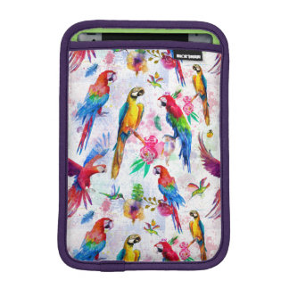 Watercolor Style Parrots iPad Mini Sleeve