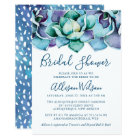 Watercolor Succulent Bridal Shower Card