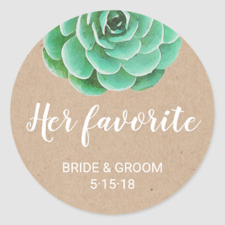 Watercolor Succulents | Her Favourite Favour Label