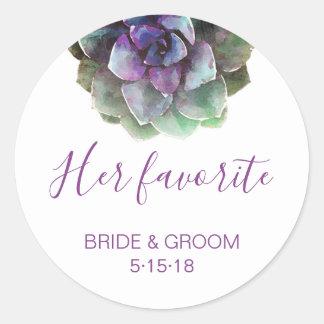 Watercolor Succulents | Wedding Favor Label