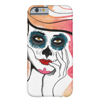 Watercolor Sugar Skull Girl iPhone 6 Case