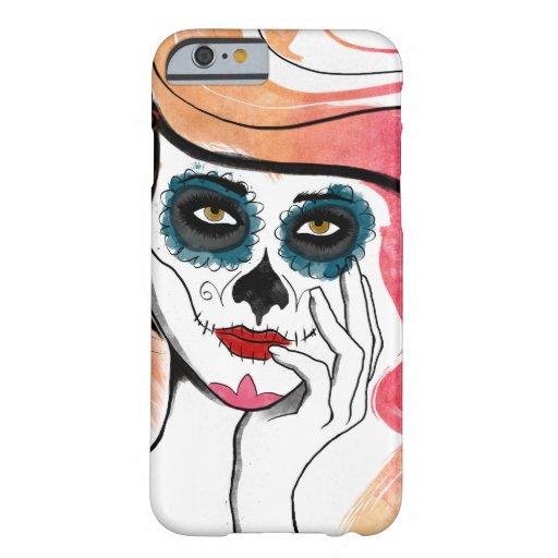 Watercolor Sugar Skull Girl iPhone 6 Case