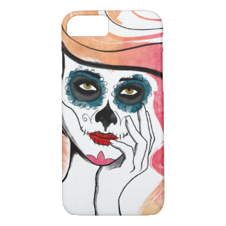 Watercolor Sugar Skull Girl iPhone 7 Case