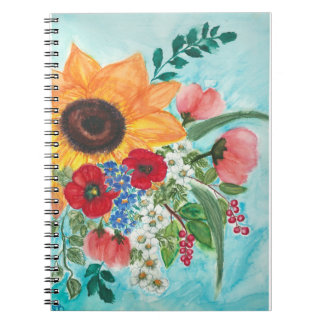 Watercolor summer blossoms notebooks