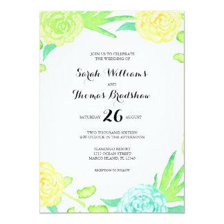 Watercolor Summer Flowers Wedding 13 Cm X 18 Cm Invitation Card