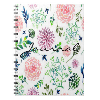 Watercolor Summer Garden Journal