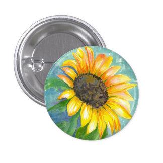 Watercolor Sunflower 3 Cm Round Badge