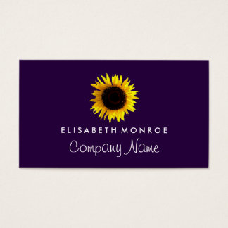 Watercolor Sunflower Business Card